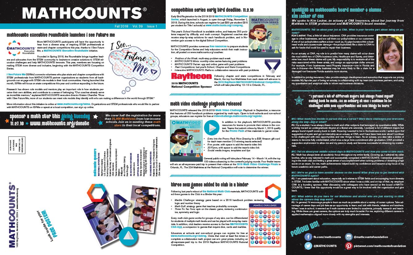 MATHCOUNTS Newsletters | MATHCOUNTS