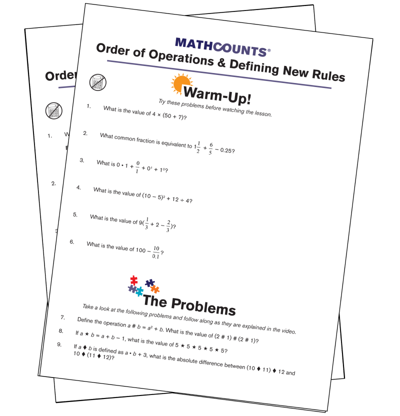 Mathcounts problems pdf
